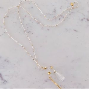 Gorjana Beaded Lariat Necklace